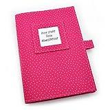 U-Heft Hülle inkl. 2 Steckfächern - Wunschtext - pink
