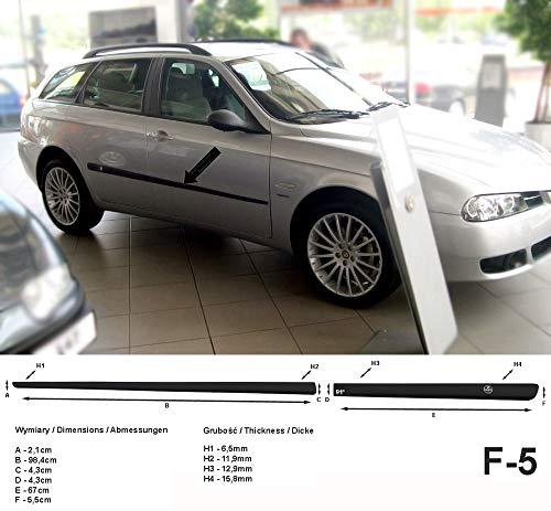 Seitenschutzleisten schwarz passend für Alfa Romeo 156 SW Sportwagon Kombi Baujahre 01.2000-05.2006 F5 (3700005)