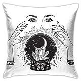 CHISHANG Funda de Almohada Decorativa Bohemia Mystical Moon, Funda de cojín de Estilo Lujoso, Funda de Almohada para sofá, Dormitorio