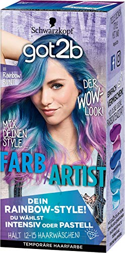 SCHWARZKOPF GOT2B Farb/Artist 111 Rainbow Bunt, 3er Pack (3 x 80 ml)
