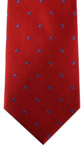 David Van Hagen Red/Blue Polka Dot cravate de