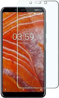 شاشة حماية نوكيا 3.1 بلس 2.5 دي بتغطية كاملة من الزجاج المقوى لموبايل نوكيا 3.1 بلس - شفاف