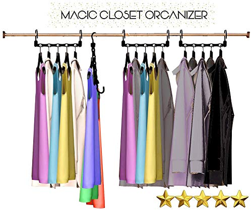 Magic Hangers As Seen on Tv Save Closet Space Clothes Organizer Purse Set of 10
