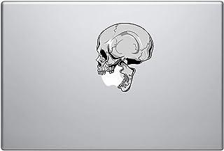 """Human Skull Biting Apple Logo Vinyl Decal Sticker - Skin MacBook Pro Air Sticker 13"""" 15"""" 17"""" Laptop Sticker Zombie Sticker..."""