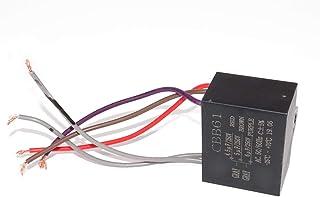 CNCCANEN 2pcs CBB61 4uF+4uF+2.5uF 5 Wire Ceiling Fan Capacitor Start Run 250V//300VAC 50//60Hz