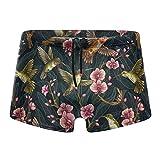 XCNGG Pájaros y Flores Calzoncillos Tipo bóxer de Secado rápido para Hombres Bañadores Shorts Trunks Traje de baño-XL