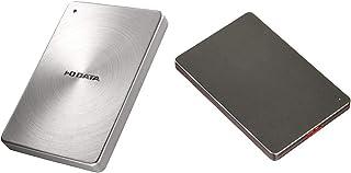 【セット買い】I-O DATA HDD ポータブルハードディスク 2TB USB3.1Gen1/Type-C対応 全面アルミボディ 日本製 HDPX-UTC2S & I-O DATA 外付けHDD ハードディスク 2TB ポータブル カクうす ...