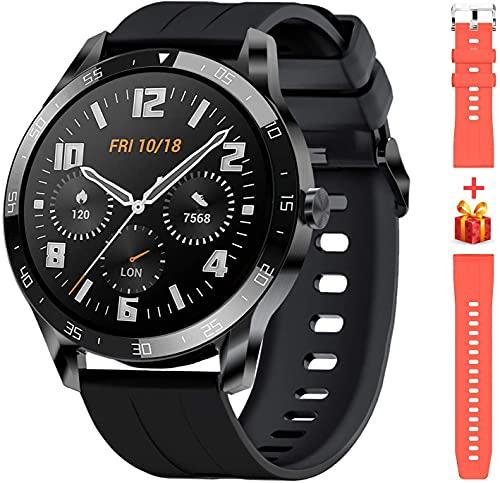Blackview X1 Smartwatch Uomo Orologio Fitness Impermeabile 5ATM Smart Watch Cardiofrequenzimetro da Polso Contapassi Smartband Activity Tracker Cronometro per Android iOS (2 cinghie) (Nero)