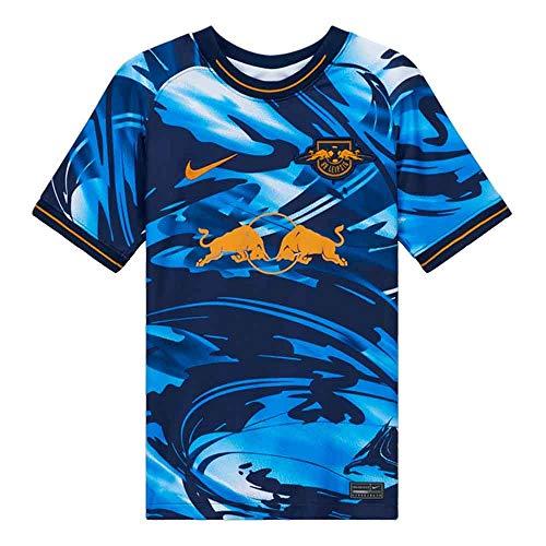 Nike Kinder RBLZ Y NK BRT STAD JSY SS 3R T-Shirt, Midnight Navy/(Kumquat) (Full Sponsor), L