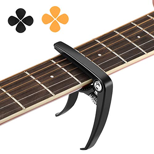 Cejilla Guitarra Capo para Electricas Guitarra Española Acustica Folk Ukelele Bajo instrumento Aleación de Zinc con 8 Púas