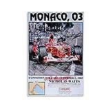 CHAOZHE Michael-Schumacher Poster Monaco 03 selten mit 15