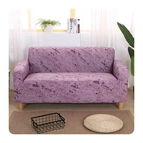 ZaHome Funda de sofá elástica geométrica para cuatro estaciones, con forma de esquina, elástica, para mascotas, 1, dos, tres, 4 asientos, rosa claro, 1 asiento, 90 – 140 cm