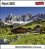 Alpen Postkartenkalender 2020. Wochenkalendarium. Blockkalender. Format 16 x 17,5 cm