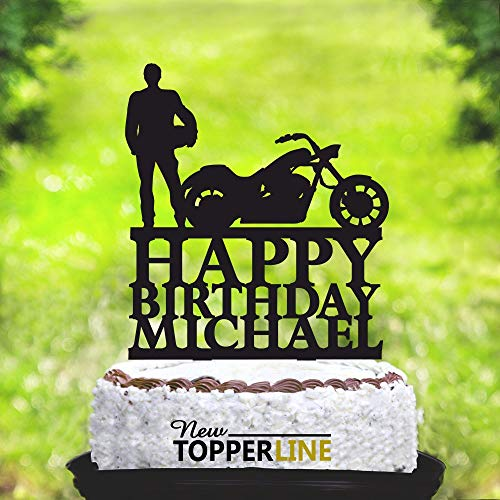 Motorrad Tortenaufsatz Biker Tortenaufsatz Silhouette Motorrad Geburtstag Biker Cake Topper Motorrad Geburtstag Tortenaufsatz Harley Davidson 2265