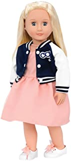Our Generation BD61007 Terry Fashion Doll, Pink, Navy & White Jacket