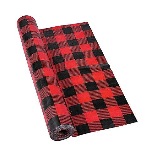 Buffalo Plaid Plastic Tablecloth Roll (100 feet long)