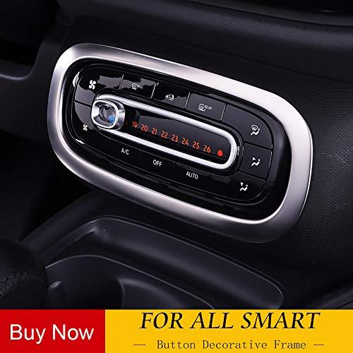 AniFM Innenkonsole Schalter Knopfleiste Verkleidung für Mercedes New Smart 453 Fortwo Forfour Auto Styling Auto Dekoration Zubehör,A