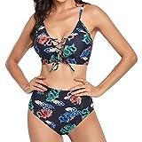 Bikinis Sexy de Mujer Tie-Dye Traje de Baño Cuello V sin Espalda Bañadores con Correas Ajustables Conjunto de Bikini de Playa Ropa de Baño Casual Verano Ideal para Piscina,Vacaciones,Mar