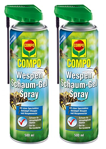 COMPO Wespen Schaum-Gel Spray 1 Liter Vorteilspack (2x500ml)