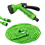 Buckaetry 50 Ft Expandable Hose Pipe Nozzle for Garden Wash Car Bike