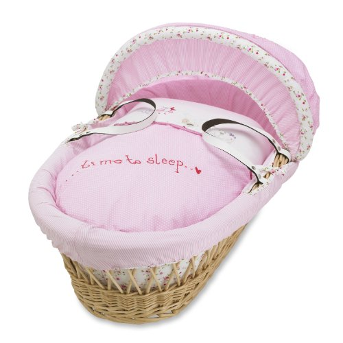 Izziwotnot Time To Play Fleur Natural Wicker Moses Basket
