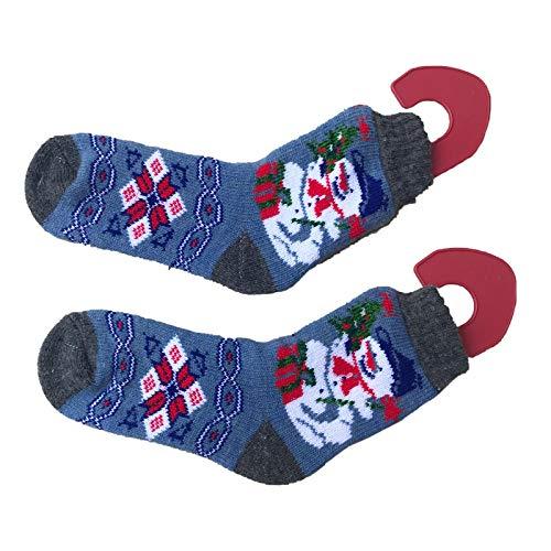 Red Suricata Bloqueadores de calcetines de tamaño ajustable – Par de estiradores para tejer y ganchillo calcetines