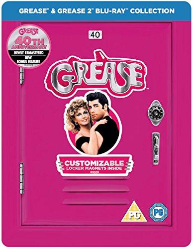 Grease & Grease 2, 40. Jubiläum, Blu-ray, Steelbook, Zavvi mit deutschem Ton, Exclusive Limited Edition Steelbook Blu-ray, Uncut, Regionfree
