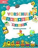 Vorschule Übungsheft ab 5 Junge & Mädchen: Die perfekte Kombination aus Malbuch und Rätsel Spiele für Kinder - Auch geeignet für Geschenke Einschulung ... Vorschul Buch für Kinder ab 5 und 6 Jahren