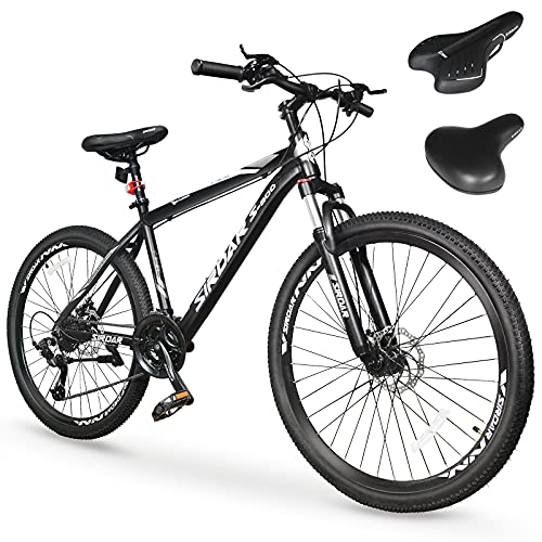 of bike derailleurs dec 2021 theres one clear winner SIRDAR S-900 27 Speed 27.5 inch Mountain Bike Aluminum Alloy and High Carbon Steel with 2 Replaceable Seat, Full Suspension Disc Brake Outdoor Bikes for Men Women