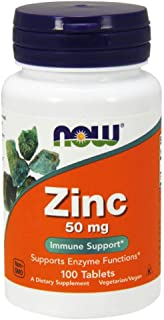 Now Foods Zinc, 50mg, Tablets, 100ct