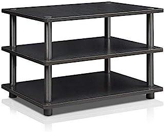 Furinno Podstawki pod telewizor bez narzędzi, drewno, czarny/czarny, jeden rozmiar