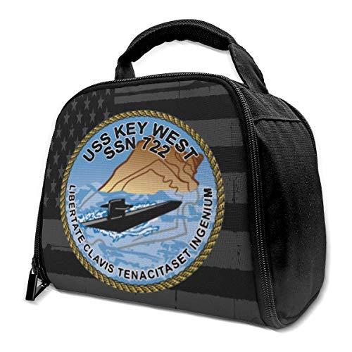 NE USS Key West SSN 722 Isolierte Tasche Lunch Bag Isolierte Lunch Box Einkaufstasche Kühltasche Für Picknickarbeiten