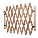 BCTDSWZ Pet Safety Stair Gate Playpen Wooden Fence Extendable Retractable Dog Sliding Door Trellis Movable Style Garden Isolation Screen for Doorway Kitchen Small Puppy Medium Dogs