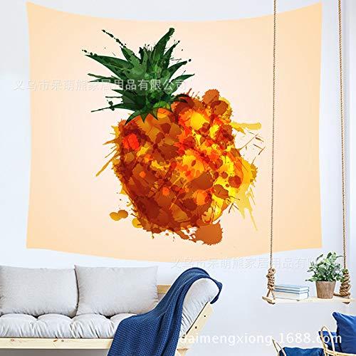 xkjymx Nueva piña Tapiz Impreso Tapiz decoración del hogar Lona de Fondo Tela de Pared 210659 150 * 130 cm