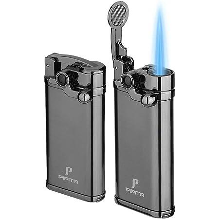【高い品質】(2個セット) PIPITA タバコ ライター 葉巻ガスライター 携帯便利 注入式 ジェットライター 防風 充填式 直噴ターボライター ろうそく火起こし ライター(ガスなし)