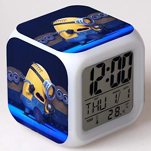 BMSYTY Reloj Despertador de Dibujos Animados Juguete para niños Reloj LED Reloj Despertador Reloj Despertador Digital luz de Despertador electrónico Reloj Despertador Despertador