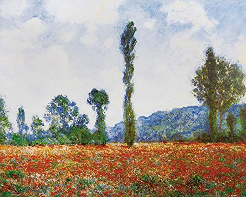 1art1 Claude Monet - Mohnblumenfeld In Giverny, 1890 Poster Kunstdruck 50 x 40 cm