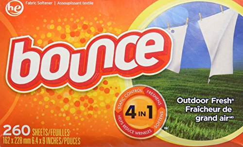 Bounce Outdoor Fresh Dryer Sheets–260Sheets/trocknertuecher–USA -