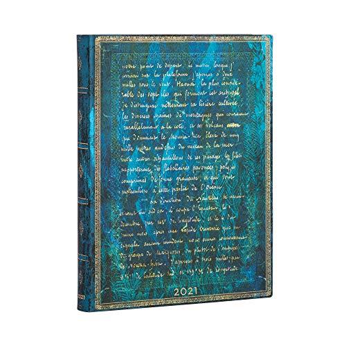 Paperblanks 12 Monate Softcover Flexis-Kalender 2021 Verne, 20.000 Meilen | Tagesüberblick | Ultra (180 × 230 mm)