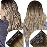 Full Shine Seamless Clip in Hair Extensions Human Hair 8PCS with PU Tape 100Grams Add 3PCS Remy Hair Extensions Total 130Grams