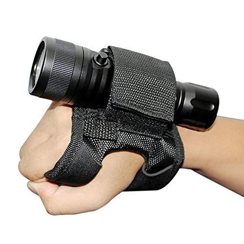 LAMF Guante de buceo soporte de luz universal ajustable de mano y brazo correa de muñeca guante de montaje de mano accesorios de buceo para luces subacuáticas linterna y linterna LED