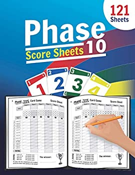 Phase 10 Score Sheets  Large Score Pages for Phase 10   Phase Ten Score Pads for Scorekeeping