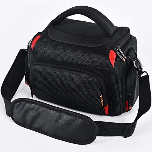 FOSOTO Camera Shoulder Bag Case Compatible for Nikon D3000 D3200 D3300 D5100 D5300 D7500 D500 D610 Canon 2000D T8i SL2 T7i DSLR Cameras