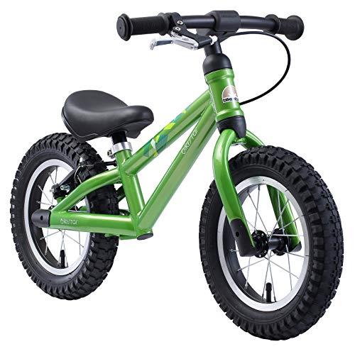 BIKESTAR Mountain Kinderlaufrad Lauflernrad Kinderrad für Jungen und Mädchen ab 3 - 4 Jahre | 12 Zoll Kinder Laufrad Mountainbike | Grün | Risikofrei Testen