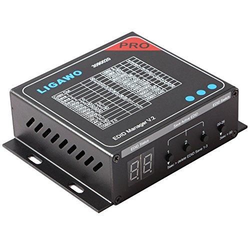 Ligawo 3090020 HDMI EDID Manager V2 | Audio / Video EDID Voreinstellungen bis 4Kx2K / 7.1 Mehrkanal | 3x EDID Save Optionen
