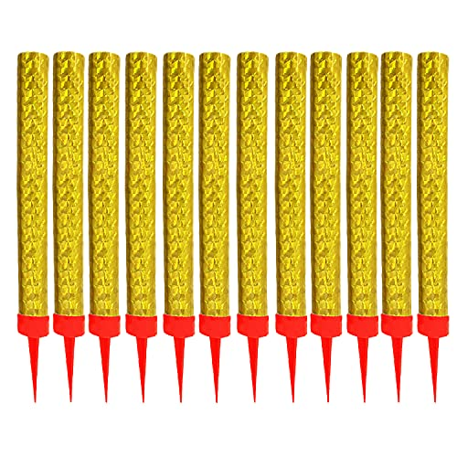Gold Birthday Candles,Used for Birthday Parties Weddings Bottling Services Nightclubs Restaurants Anniversaries Parties Celebrations smokeless 12 Pack (Gold)
