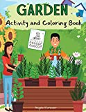 Garden Activity and Coloring Book: Amazing Kids Activity Books, Activity Books for Kids - Over 120 Fun Activities Workbook, Page Large 8.5 x 11'