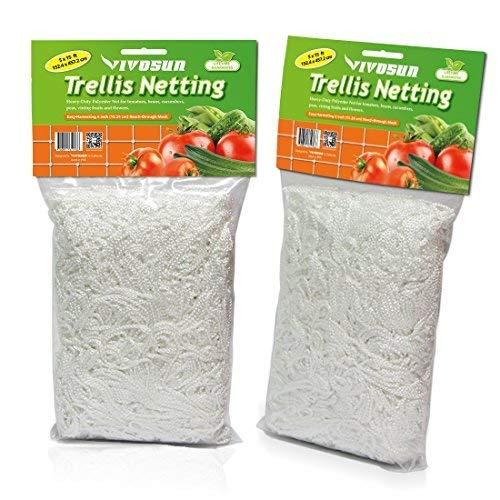 VIVOSUN HeavyDuty Polyester Plant Trellis Netting 5 x 15ft 2 Pack