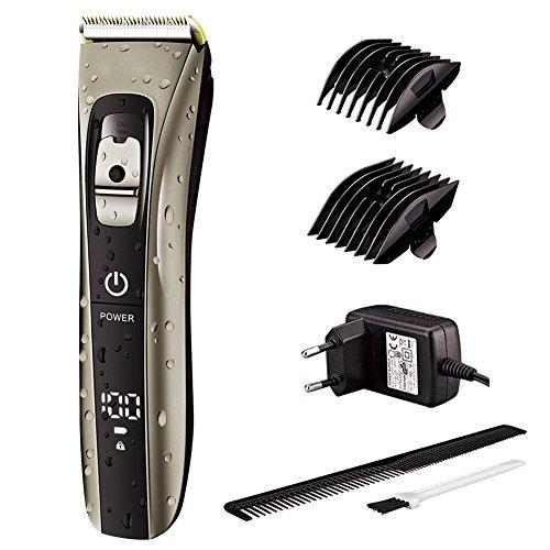 Surker Haarschneider Maschine für Männer Wasserdicht Profi Haarschneidemaschine Friseur Set Bartschneider Trimmer Wiederaufladbare USB mit LED Anzeige Berührungsschalter