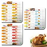 Air Fryer Magnetic Cheat Sheet for Instant Pot, 3-in-1 Instapot Air Fryer Accessories Cooking Times Chart for Duo Crisp and Vortex Plus, Air Frying Accessory Magnets as Quick Reference Guide